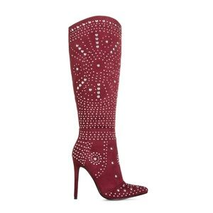 Wine color boots